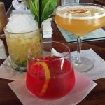 Image of three colorful cocktails