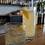 Image of a tall cocktail and a short cocktail